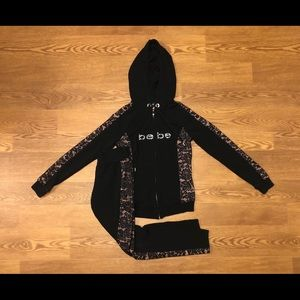 Bebe Black Jogging Suit- XS